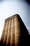 industriell silo Arkivbild