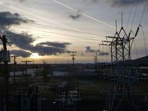 industriell sky Royaltyfria Foton