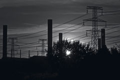 industriell sky w för b Royaltyfri Foto