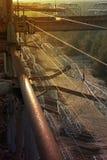 industriell solnedgång arkivfoto