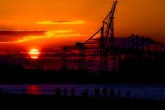 Industriell solnedgång 2 royaltyfria bilder