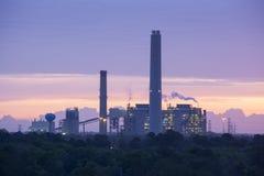 industriell soluppgång Arkivfoto