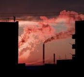 industriell soluppgång Royaltyfria Foton