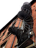 industriell spiral trappa Arkivfoto