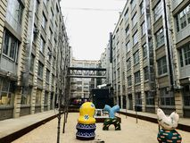 industriell stad arkivfoton