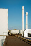 industriell stor fabrik Fotografering för Bildbyråer