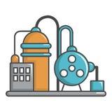 Industriell symbol för abstrakt maskin, tecknad filmstil stock illustrationer