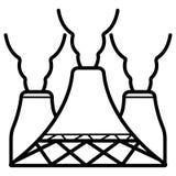 Industriell symbolsvektor stock illustrationer
