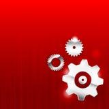 Industriell teknologi för abstrakt kugghjul för bakgrund 0011 Royaltyfria Bilder