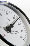 Industriell termometer Arkivfoton