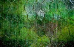 Industriell textur för grönt exponeringsglas Arkivfoton