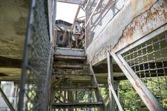 Industriell trappa som går upp royaltyfri foto
