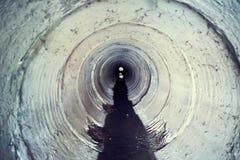industriell tunnel Royaltyfria Bilder