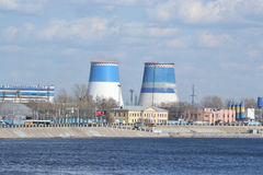 Industriell utkant av St Petersburg Arkivbild