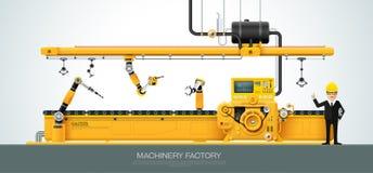 Industriell utrustning för maskinfabrikskonstruktion som iscensätter ve Arkivfoton