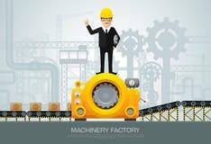 Industriell utrustning för maskinfabrikskonstruktion som iscensätter ve royaltyfri illustrationer