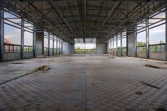 industriell växt för korridor arkivfoto