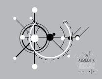Industriell vektor och teknikbakgrund, framtida tekniskt p Arkivfoton