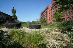 industriell wasteland arkivfoton