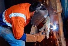 industriell welder royaltyfri fotografi