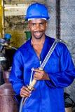 industriell welder Fotografering för Bildbyråer