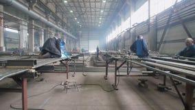 Industriell, Werkstatt für Produktion der Behandlung von entfernbaren Geräten stock video footage