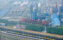 Industriell zon för bensin Royaltyfri Fotografi