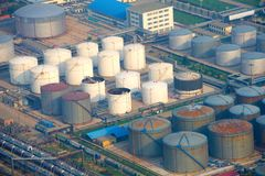 Industriell zon för bensin Royaltyfri Bild