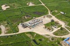Industriell zon för bensin Arkivbilder