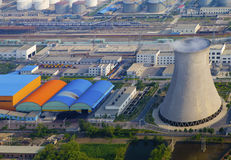 Industriell zon för bensin Royaltyfria Foton