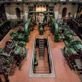 Industriella arbeten för turbin Hall & vatten Royaltyfria Foton