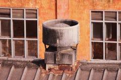 Industriella avgasrörfans för fabrik Fotografering för Bildbyråer