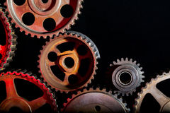 industriella cogwheels Royaltyfri Fotografi