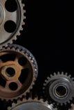 industriella cogwheels Arkivbild