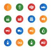 Industriella enkelt symboler Royaltyfri Fotografi
