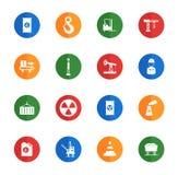 Industriella enkelt symboler Royaltyfria Bilder