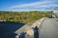 Industriella fält, aarvollskogen Fotografering för Bildbyråer