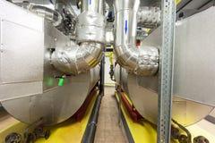 Industriella gasgasbrännare Arkivbilder