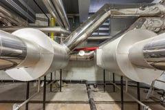 Industriella gasgasbrännare Fotografering för Bildbyråer