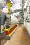 Industriella gasgasbrännare Arkivfoton
