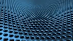 Industriella hål för Metall ståljärn mönstrar siktblåttperspektivet DOF stock illustrationer