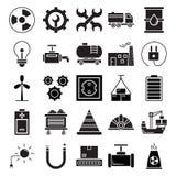 Industriella isolerade vektorsymboler, som kan lätt ändras, eller editIndustrial isolerade vektorsymboler som kan vara den lätt ä royaltyfri illustrationer