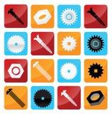 Industriella knappar för vektor Arkivbild