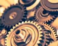 Industriella kugghjulhjul, närbildsikt Royaltyfria Foton