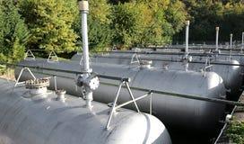 Industriella lättheter för gaslagring Arkivbild