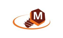Industriella lösningar initialt M Arkivbilder
