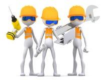 industriella lagarbetare för leverantörer Arkivfoton