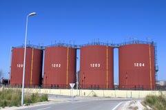 Industriella lagringsbehållare Royaltyfri Fotografi