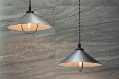 Industriella lampor som göras av metall Royaltyfri Fotografi