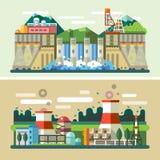 industriella liggande royaltyfri illustrationer